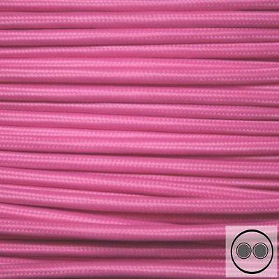 Kabelmaterial meterware Trendmarkierung Textilkabel Stromkabel Stoffkabel Farbe Pink 2 Adrig 2 X 0,75 Mm² Baugewerbe