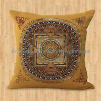 Us Seller- Decorative Cushion Covers Cushion Cover Tibetan Buddhism Mandala