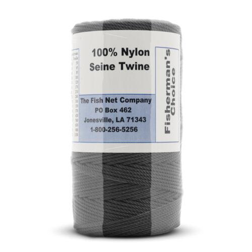 Tarred (Black) Fisherman's Choice Twine, Twisted Nylon. Size #120 (TWFT-98)