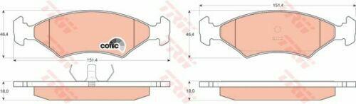 TRW Bremsbelagsatz Scheibenbremse GDB255 vorne für FORD SIERRA, Fiesta u. Escort