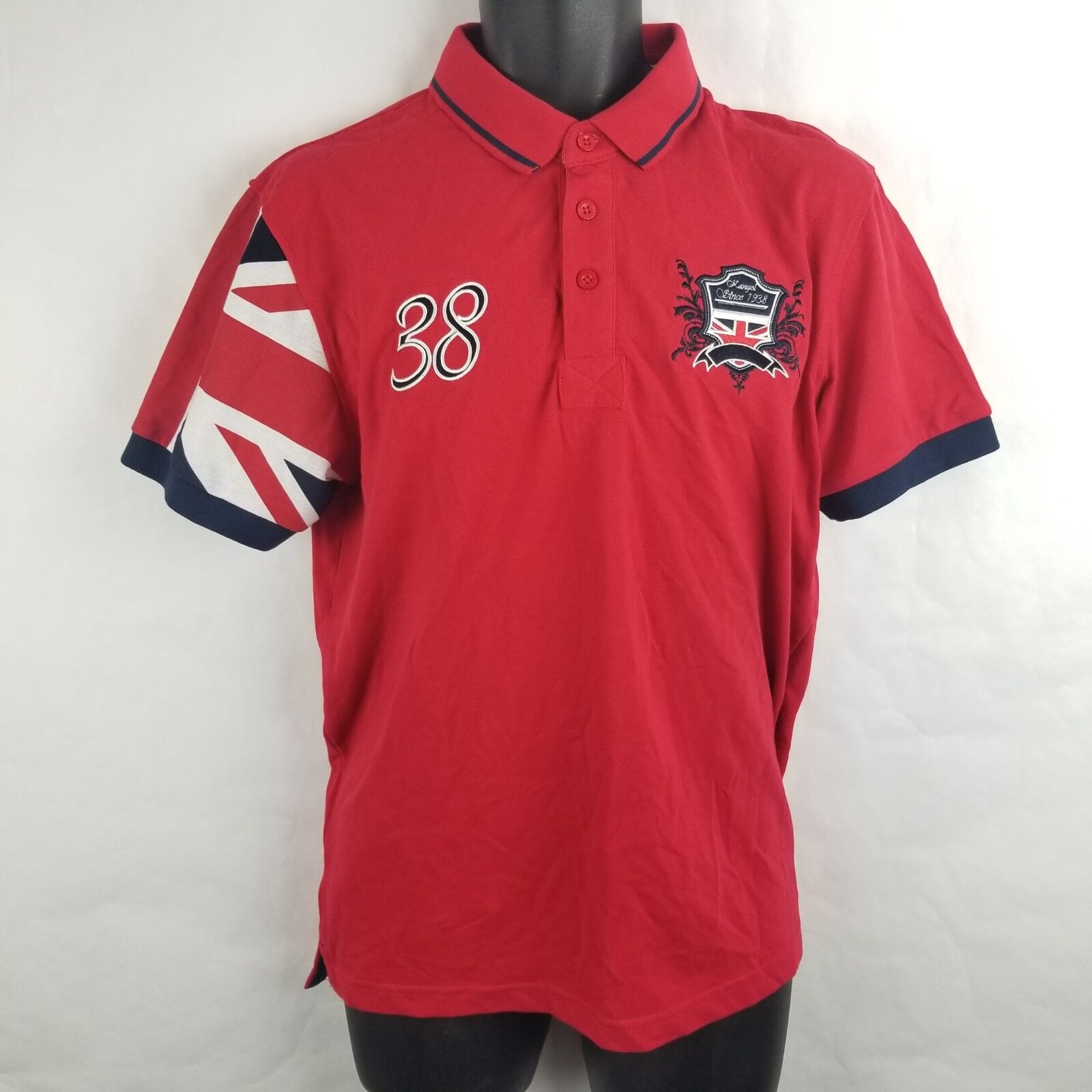 3af8aae3d NWT Kangol Flag Polo Shirt British Red Medium I6 Rugby ntrsyn3902 ...