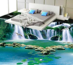 3D Wasserfall Fototapeten Wandbild Fototapete Tapete Familie DE Lemon