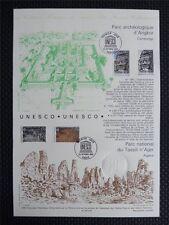 FRANCE UNESCO 1993 ALGERIEN BISON WISENT ANGKOR KAMBODSCHA ERSTTAGSBLATT z938