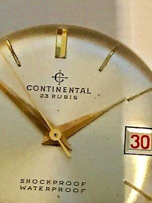 Ernst Continental Nur Werk 23steine-mit Zifferblatt Zeiger-krone-funktioniert-jahr-100