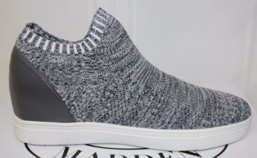 Steve Madden Sly Knit Slip On Sneaker style shoes Grey Multi New With Box