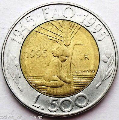 """FAO/"""" BiMetallic UNC San Marino 500 lire 1982 km#140 /""""Social Conquests"""