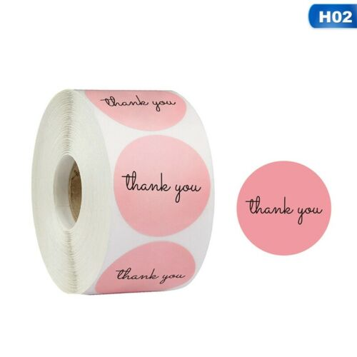 500 Thank You Stickers For Your Support Business Labels Round Heart    JU