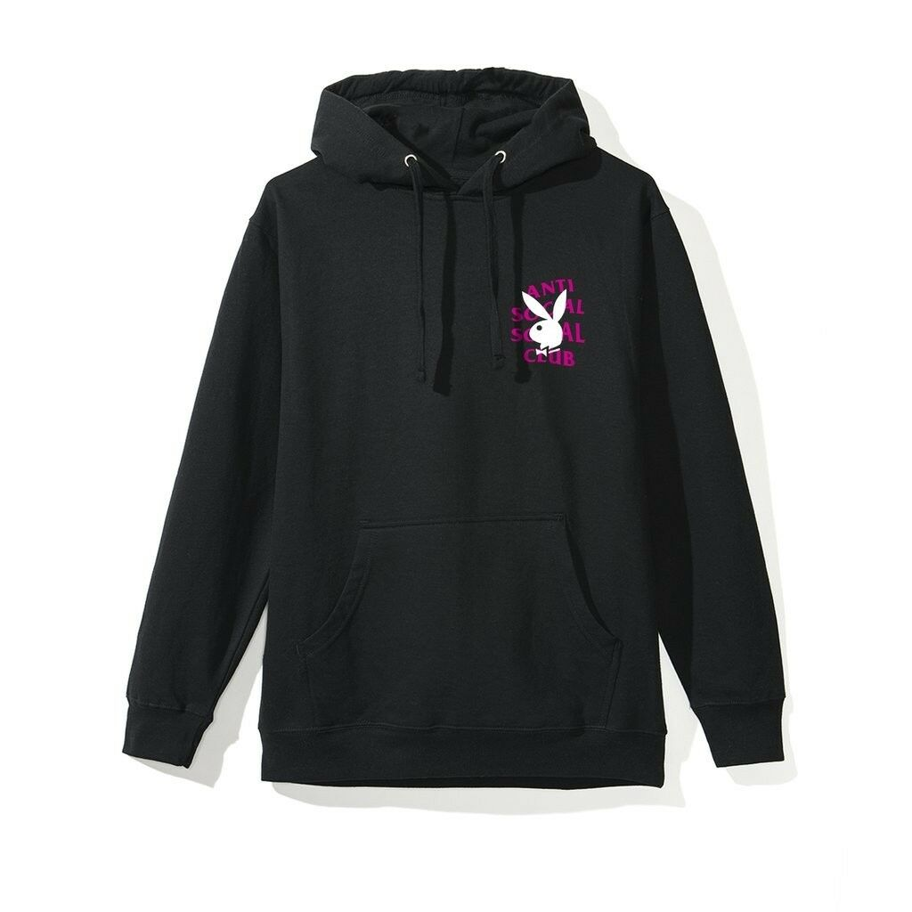 Anti Social Social Club x Playboy Remix Hoodie Sz Small ASSC PLAYBOY In Hand