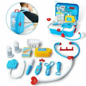 Cadeau Enfants Médecin Infirmière Toys Medical Set jeu de rôle Kit Dur Sac de transport 3+