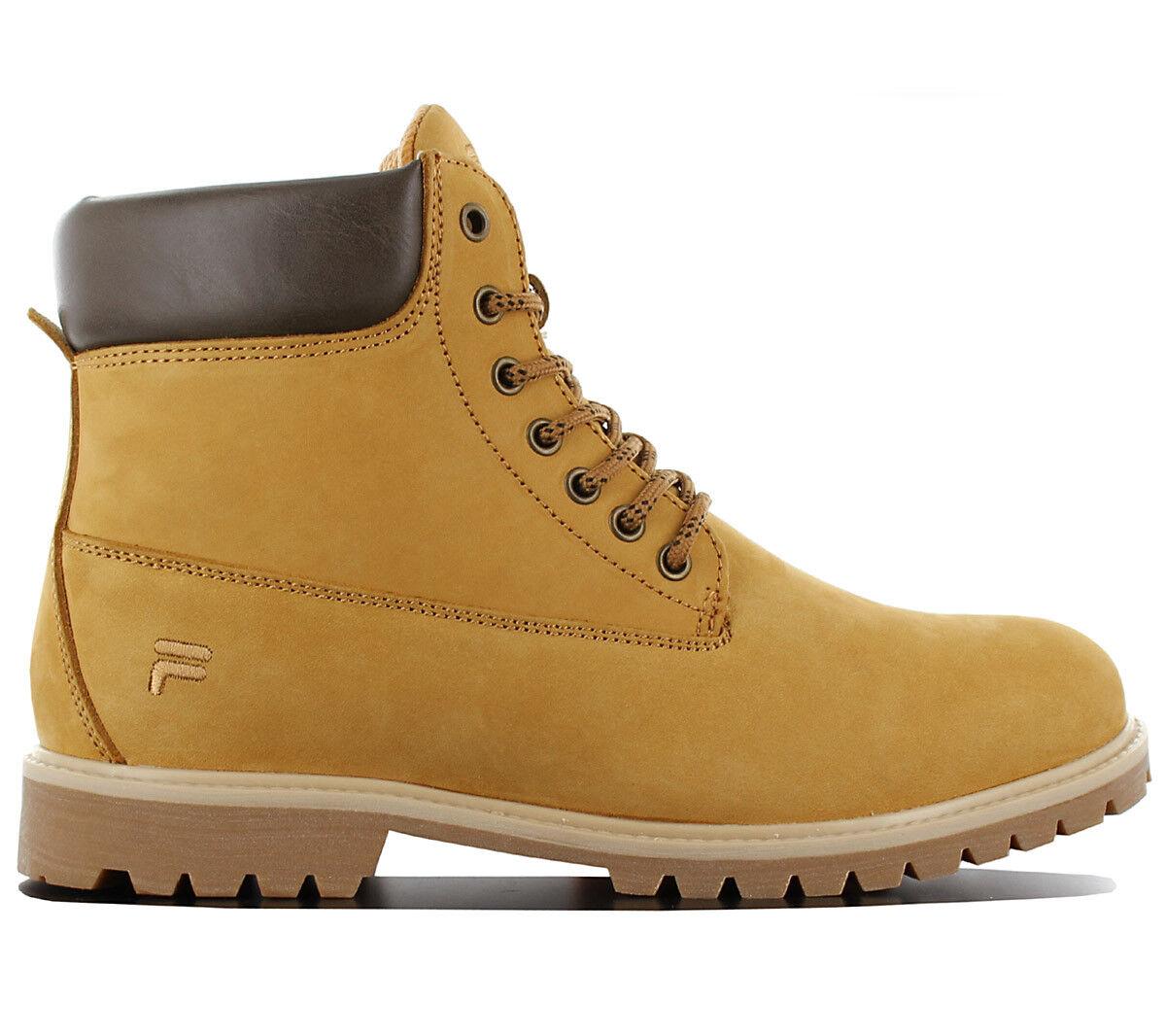 Fila boisland N Mid Homme Hiver Bottes Chaussures Cuir Beige 1010149.EDU