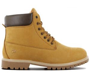 Details zu Fila Woodland N Mid Herren Winter Boots Stiefel Schuhe Leder  Beige 1010149.EDU
