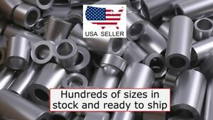 New-Aluminum-Spacer-Bushing-1-2-034-OD-x-5-16-034-ID-Fits-M8-or-5-16-034-Bolts