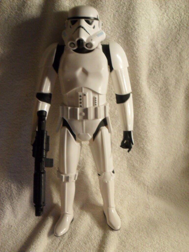 Rare Star Wars Rogue One 18 inch Big Figure Stormtrooper Jakks Pacific Blaster