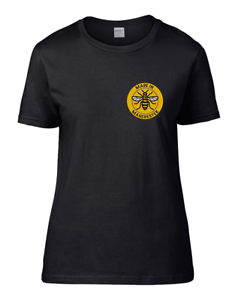 MADE-IN-MANCHESTER-Worker-Bee-Symbol-Women-039-s-Tshirt