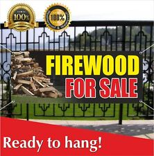 Firewood For Sale Banner Vinyl Mesh Banner Sign Flag Many Sizes Wood Split