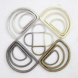 Metal-D-Ring-Welded-for-straps-purses-bags-Choose-quantity-Size-amp-color-usa