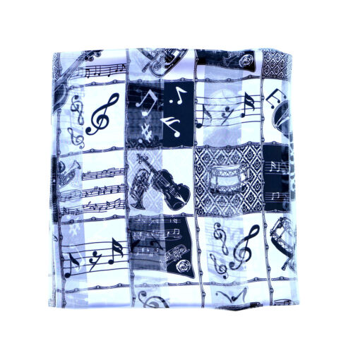 Navy and Black Men Women Satin Music Instrument Choirs scarf Red Kongle