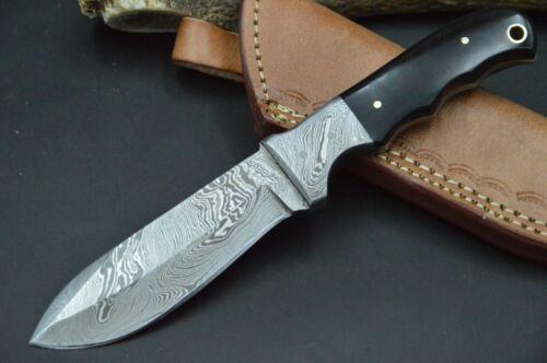 Jagdmesser Damastmesser Taschenmesser HANDARBEIT Damast Skinner Damaststahl #163
