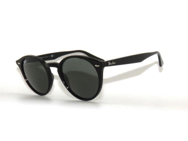 94f2391065477d Ray-Ban RB 2180 601 71 Black Plastic Round Sunglasses Green Lens ...