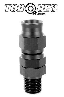 Black Anodized 3AN Aluminum Teflon Swivel Hose Ends Fitting Adapter for Brake Fluid AN3 Straight