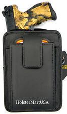 BLACK LEATHER CONCEALMENT GUN PISTOL HOLSTER WAIST PACK - RUGER SR22