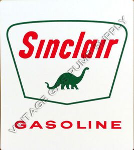 "Sinclair Dino 12""x14"" Vinyl Decal (DC121P)"
