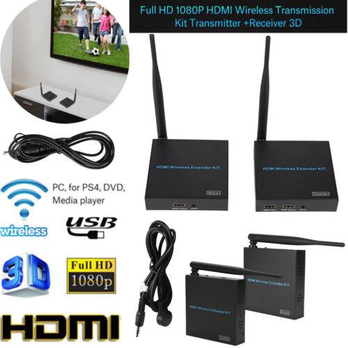 Wireless 1080P HDMI Wireless 2.4GHz//5GHz Extender Transmitter Receiver 100-240V