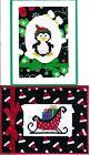 Handmade CROSS STITCH  CHRISTMAS CARDS #CX-G--Lot of 2
