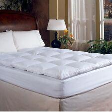 2 Inch Down Feather Bed Mattress Topper Full Size Sleeping Pad Mat Comfort Sleep
