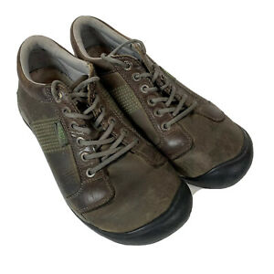 KEEN-Mens-Austin-Brown-Leather-LaceUp-Hiking-Shoes-Sz-10-5-Walking-Trail-Outdoor