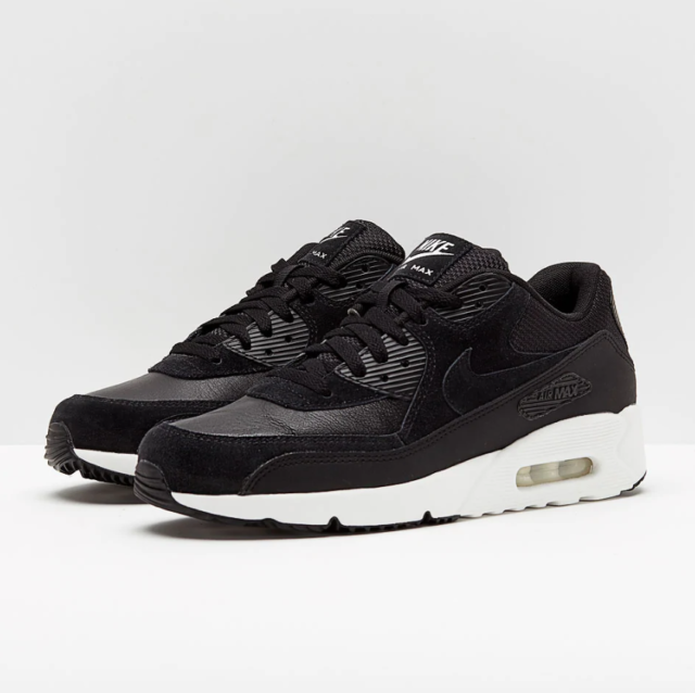 Nike Air Max 90 Ultra 2.0 Ltr Mens 924447 001 Black White Running Shoes Size 9.5