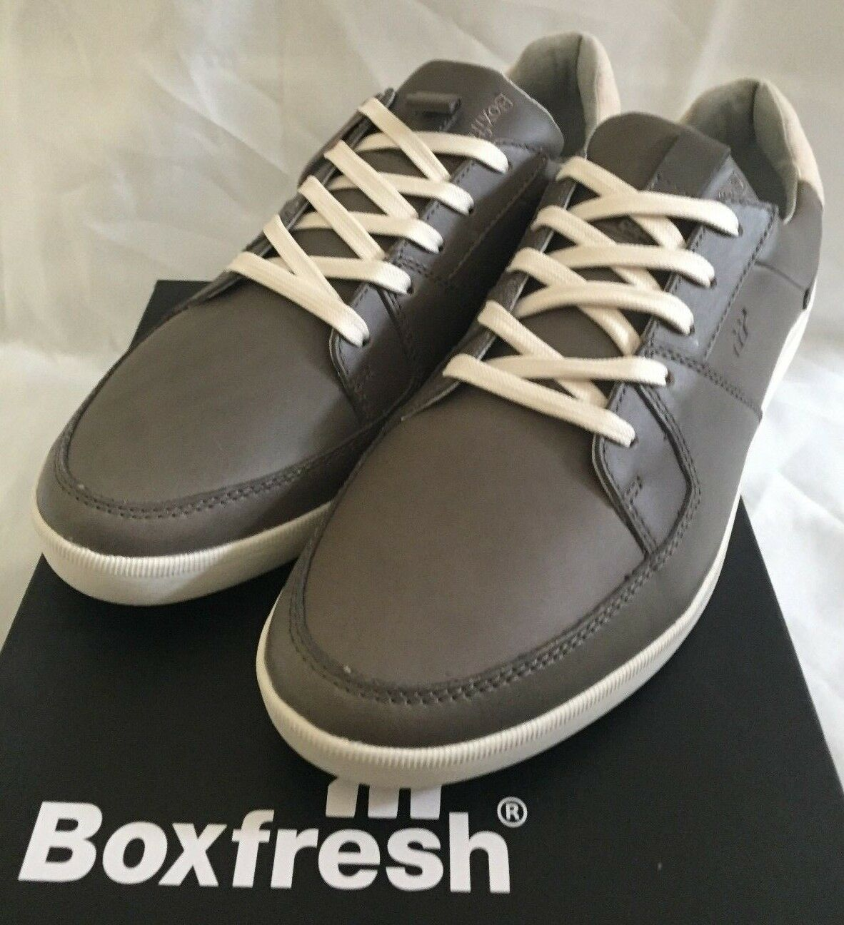 Boxfresh Cladd ICN Lea Mgry Grif Grey, Men's Trainers UK Size 10