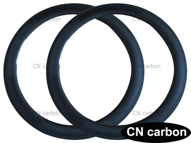 U forma 60mm profondità CARBONIO COPERTONCINO BICI CICLISMO RIM larghezza 23,25mm