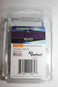 Air Venturi Quick Cleaning Pellets .20 cal / 5.00 mm 80 ct Made in USA