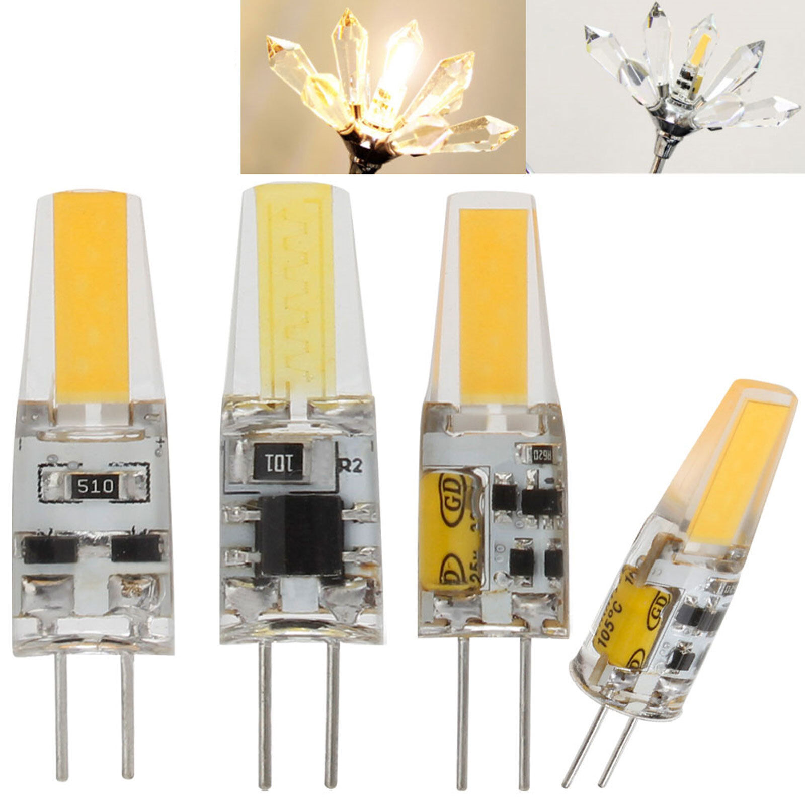 G4 LED COB Bulb AC DC 12V 220V Lights Warm Cool White Led Replace 40W Halogen