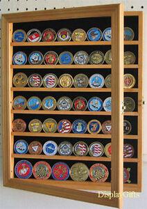 Challenge Coin Casino Chip Display Case Cabinet, with door, Shadow ...