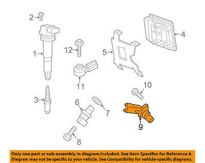 BMW OEM 06-15 Z4-Engine Crankshaft Crank Position Sensor CPS 13627525015