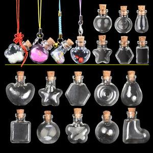 Mini-Small-Cork-Stopper-Glass-Vial-Jars-Containers-Bottle-Drift-Bottle-21-Styles