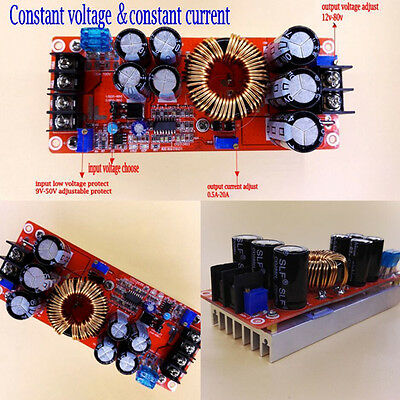 1200W 20A DC Converter Boost Step up Power Supply Module IN 8-60V OUT 12-83V1pc