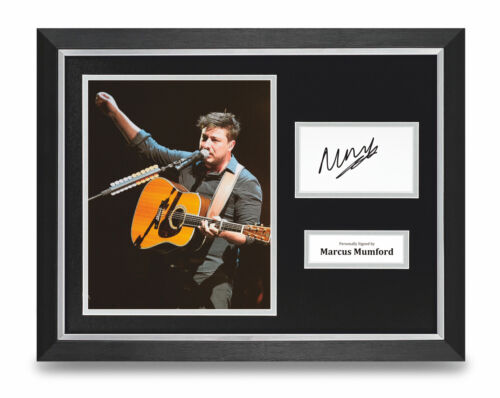 Marcus Mumford Signed 16x12 Framed Photo Display Mumford /& Sons Autograph COA