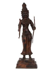 Indonesien-20-Jh-A-Javanese-Bronze-Figure-of-Rama-Statuette-javanaise-Java