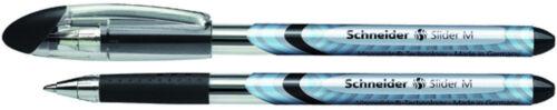 5 x Schneider Slider Basic M Kugelschreiber schwarz 151101 Viscoglide-Technology