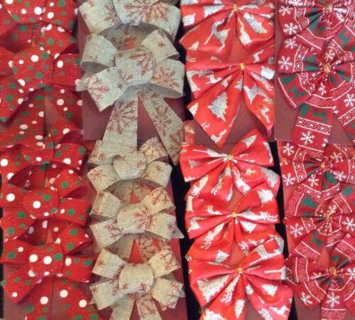 5 Stck Schleifen Schleife 13x16 cm rot Weihnachtsbaum Dekoration Geschenk