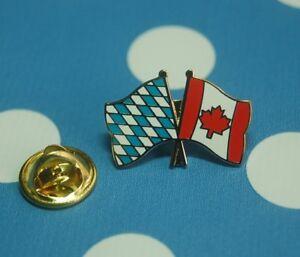 Freundschaftspin-Bayern-Kanada-Pin-Badge-Button-Anstecker-Laenderpin-Sticker