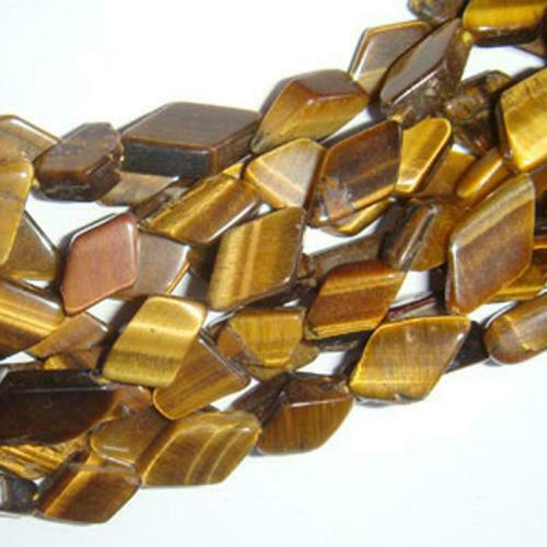 Tiger Eye Diamond Beads 7x9mm-7x12mm Yellow//Brown 28 Pcs Handcut DIY Jewellery