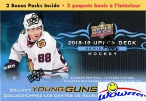 2018-19-Upper-Deck-Series-2-Hockey-HUGE-Sealed-12-Pack-Blaster-Box-2-YOUNG-GUNS