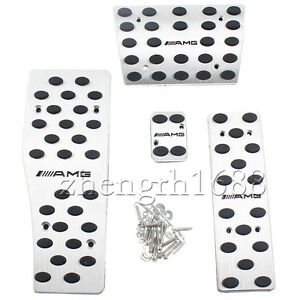 AUTO-Pedal-Stainless-Aluminum-Set-Fit-For-Mercedes-Benz-AMG-W120-W124-W140-W202