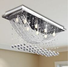 Crystal Glass Ceiling Light Modern Gorgeous High Quality Chrome Chandelier NEW