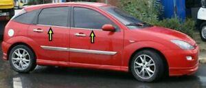 1998-2005-Ford-Focus-MK1-HB-Saloon-Chrome-Windows-Frame-Trim-4Door-4Pcs-S-Steel