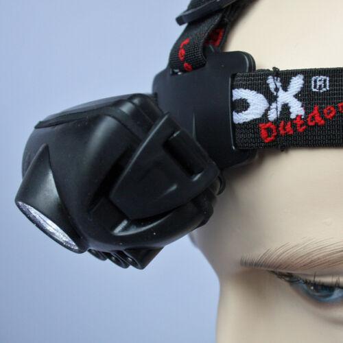 Fox Outdoor Stirnlampe Kopflampe Lampe 1 Watt Luxeon LED 4 Funktionen Blinklicht